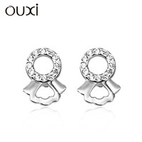 OUXI new design gemstone zircon bulk wholesale earrings Y20224