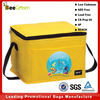 Promotional front poucket design 80gsm non woven 6 can insulated cooler bag