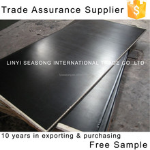 China shandong linyi 18mm black construction formwork concrete film faced plywood