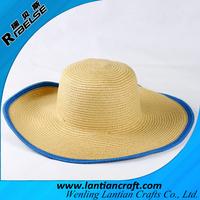 wholesale fsahion bucket paper straw hat beach womens fedora hats