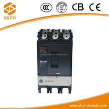 Yueqing SSPD brand PC material CNSX 3P 630N 630A 690V 50kA mccb vacuum electrical circuit breaker