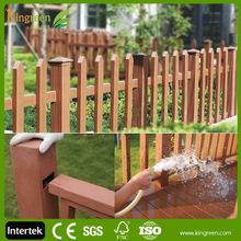 New design composite decking plastic children fence, small garden fence, dog runs fence