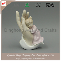 Resin Fairy Angel Factory Decorative Fairy Angel Manufacture White Marble Virgin Mary Statue