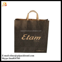 Wholesale factory pice printed brown paper bag / eco friendly shopping kraft paper bag