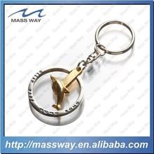 lovely bird shape custom double plating 3D key chain