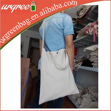 Cheap Wholesale Blank Cotton Tote Sling Bags Foldable Reusable Shopping Bag With Rope Handle