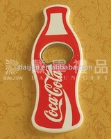 2014 open beer bottle with fridge magnet