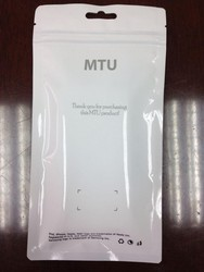 used mobile phone side transparent Anti-static bag with Europe hole