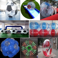 colorful cheap bubble soccer ball inflatable football,Giant bubble jumbo water ball inflatable water walking ball