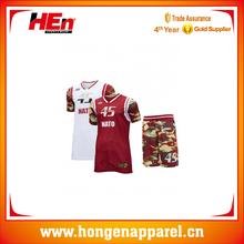 Full Sublimation Print Cheap Camo Basketball Wear Wholesale
