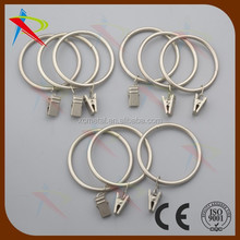 BRUSH NICKEL DRAPER IRON RINGS with CLIPS for curtains POLES