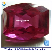Synthetic Barrel Ruby Red Corundum Barrel Stone