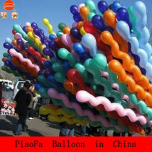 China factory screw shaped balloon, balloon for children, balloon for christmas