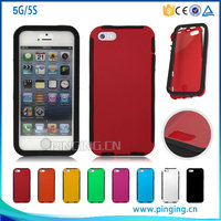 360 degree full cover protective phone case for iphone 5 5s with front screen protective case