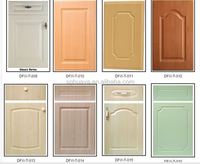 Factory Price Pvc Moulded Kitchen Cabinet Door For Africa Market ...