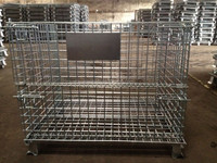 Metal cages and sheet large steel bins decorative wire mesh boxes