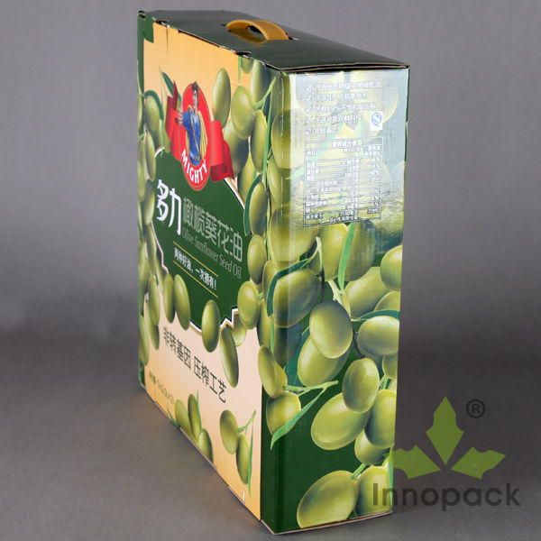 Hard Green Packaging Case with Plastic Handle