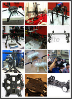 High strength carbon sheet cnc quadcopter frame carbon fiber