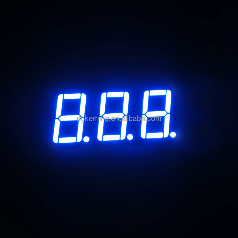 Ultra blue led module 5631as 7 segment led display 3 digits