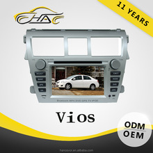 good quality oem touch screen auto radio gps navigation for toyota vios 2 din car dvd player