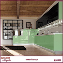 plain/raw/melamine/hpl/wood veneer/uv mdf board/hd kitchen cabinet