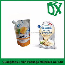 manufacturer jelly drinks bag/plastic juice pouch/spout liquid packaging