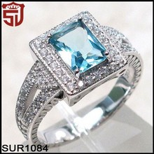 Trendy Micro Pave Jewelry with Rhodium Plated Rings for Anniversary