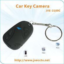JVE-3109C 720P ,0.3-3.0 mega pixel mini digital car key chain Camera/Hidden Mini Camera keychain/DVR