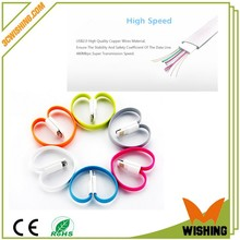 Color of noodles magnet wires USB charging portable data cable