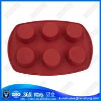 6 Holes Round Shape Silicone Moulds for Candle
