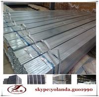 galvanized square steel pipe,seamless galvanized square tube Q195/DX51D/Q235