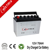 JIS battery dry charged battery 12v 70ah with good quality and price