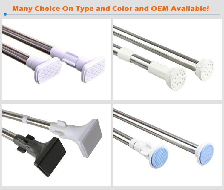Bathroom Strainght Extension Flexible Shower Curtain RodHousehold Essentials Adjustable Telescopic Rail