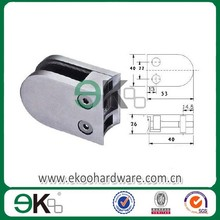 Strong stainless steel handrail glass pipe clip tube saddle balustrade wall mounted glass to clamp