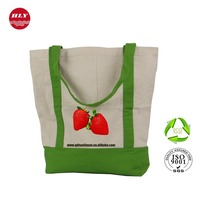 Heavy Duty 2 Toned Wholesale Shopping Standard Size Canvas Tote Bag