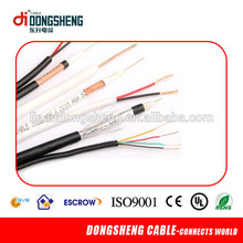 El mercado europeo rg6+2c*0.75mm siamese cctv cable
