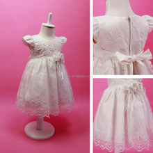 Cap Sleeve Organza Embroidery Vintage Flower Girl Dress For Wedding Party Bridesmaid Frocks Design
