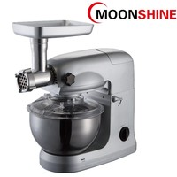 Plastic gear system 800W 6 speed stand mixer silver