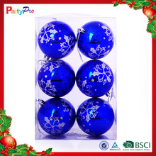 2015 New Gift China Best Quality Plastic Christmas Ball Ornament Set With Glitter