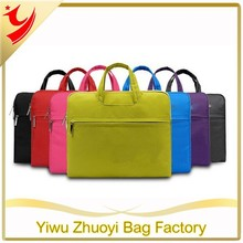 Simple laptop bag with tote handle made of high quality nylon