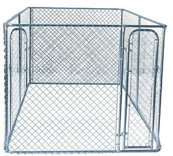 6ft High Galvanized & chain link dog kennel for sale