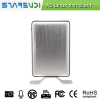 Quad Core 1.5 G Mini PC Station Thin Cliet with Micro and Mic Speaker Input and Output