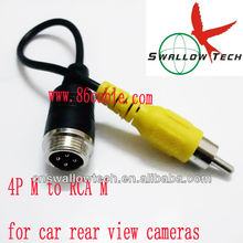 video cable for car rear view camera (4pin aviation male to RCA male )