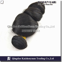 KZY-- top great human hair extensions wholesale natural woven curtain loose wave hair weft