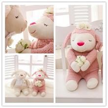 Morbido peluche paio pecore seduto in alto 30cm/ripieno di san valentino pecore giocattolo su misura/ripieno animato pecore giocattolo femminile e uomo