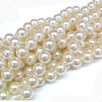 hot fashion approx 4mm Dia. Round Pearl Imitation Plastic Pearl Beads assortment White for You to DIY jewelry
