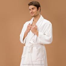 white shawl collar terry bathrobe clothing in turkey contain 100% soft cotton