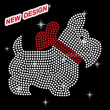 Beautiful dog strass hot fix rhinestone motif for garment decoration I_2_(11)