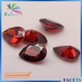 Facetas Gems Hot Sale solto Pear Cut CZ de pedras preciosas granada vermelho