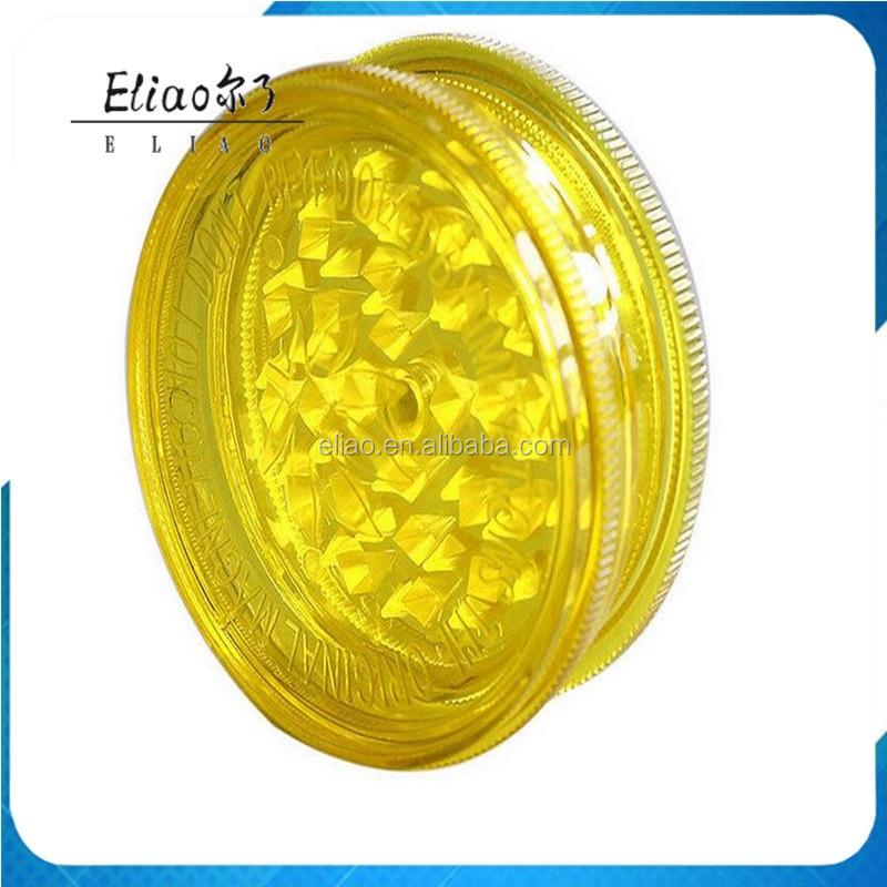 Futeng Yiwu FT4010 60 MM Pacote de Caixa de Exibição de 2 Peças de Acrílico Sharpe Dentes Herb Grinder Weed Grinder Atacado